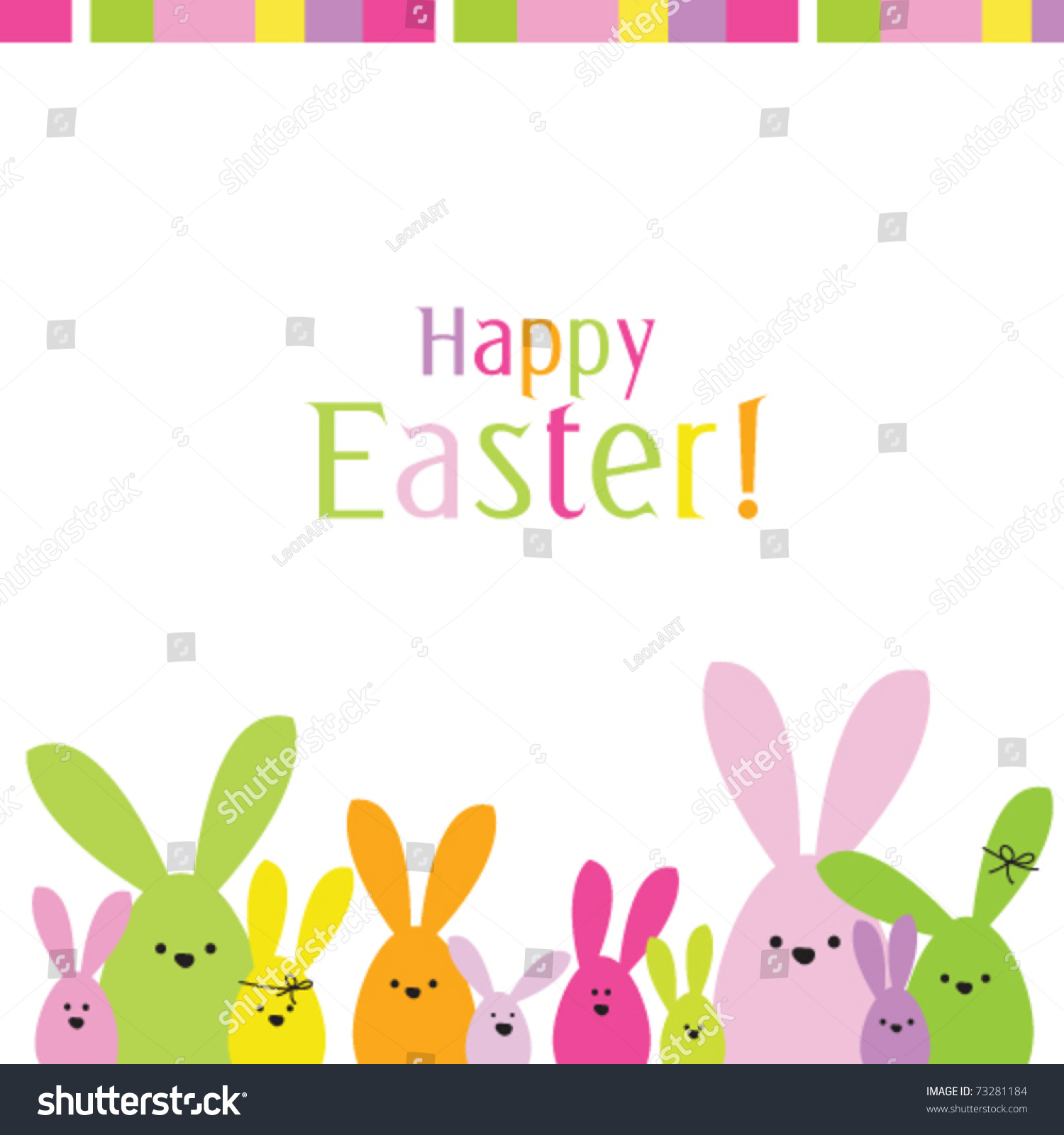Easter Bunny Easter Card Copy Space Vector 73281184 – Easter Card
