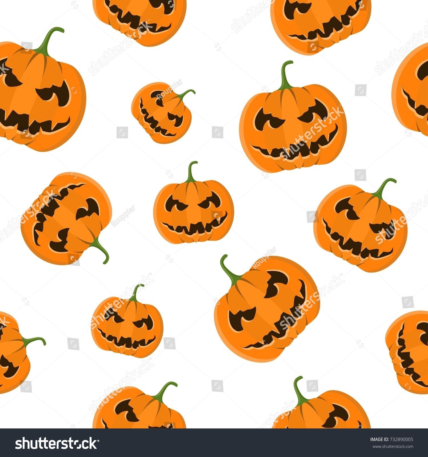 Cute Halloween Pumpkin Vector Set Vector Illustration Ez Canvas