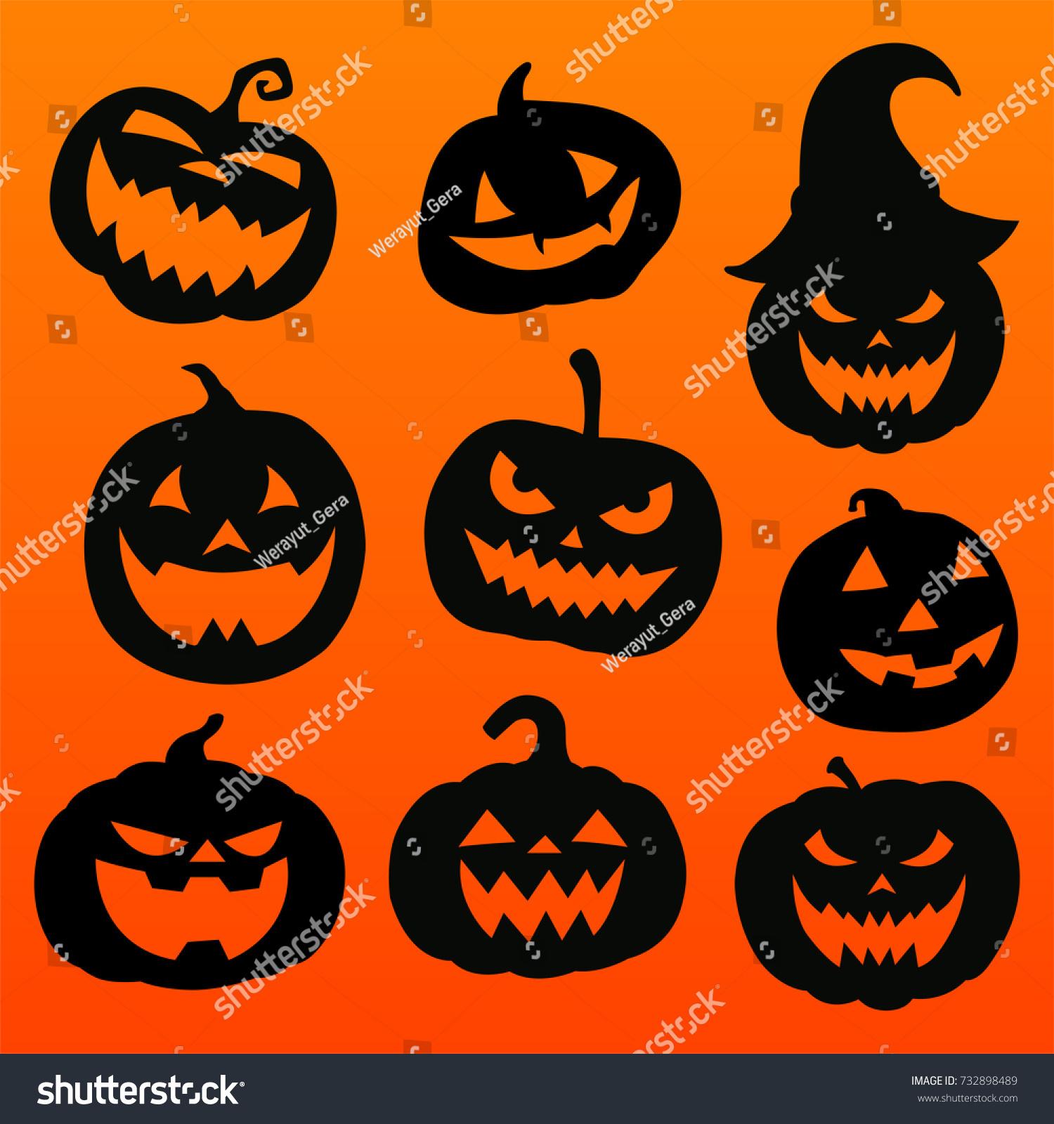 halloween pumpkins stock vector 732898489 shutterstock