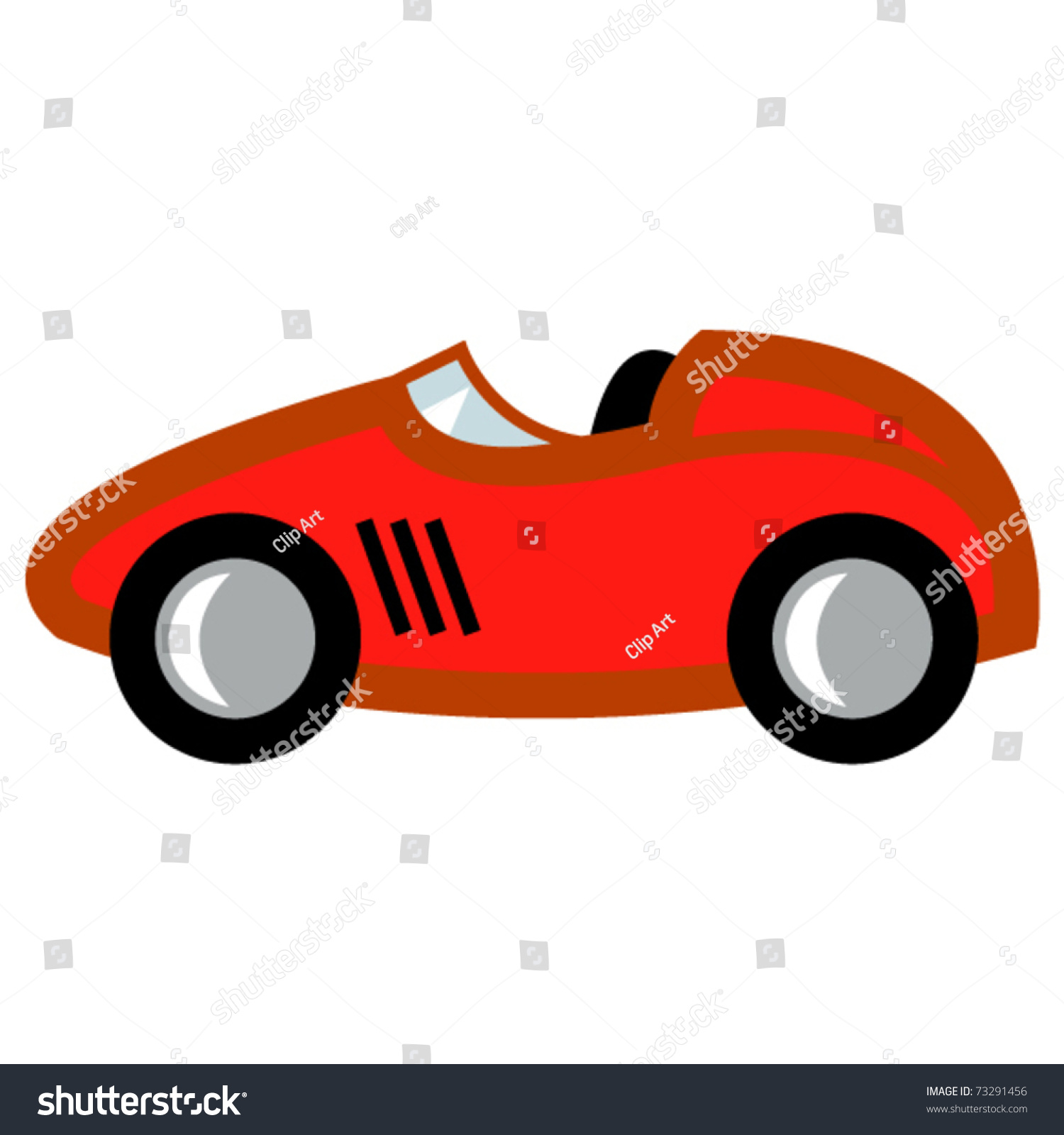 race car in cartoon style or child 39 s toy auto or. Black Bedroom Furniture Sets. Home Design Ideas