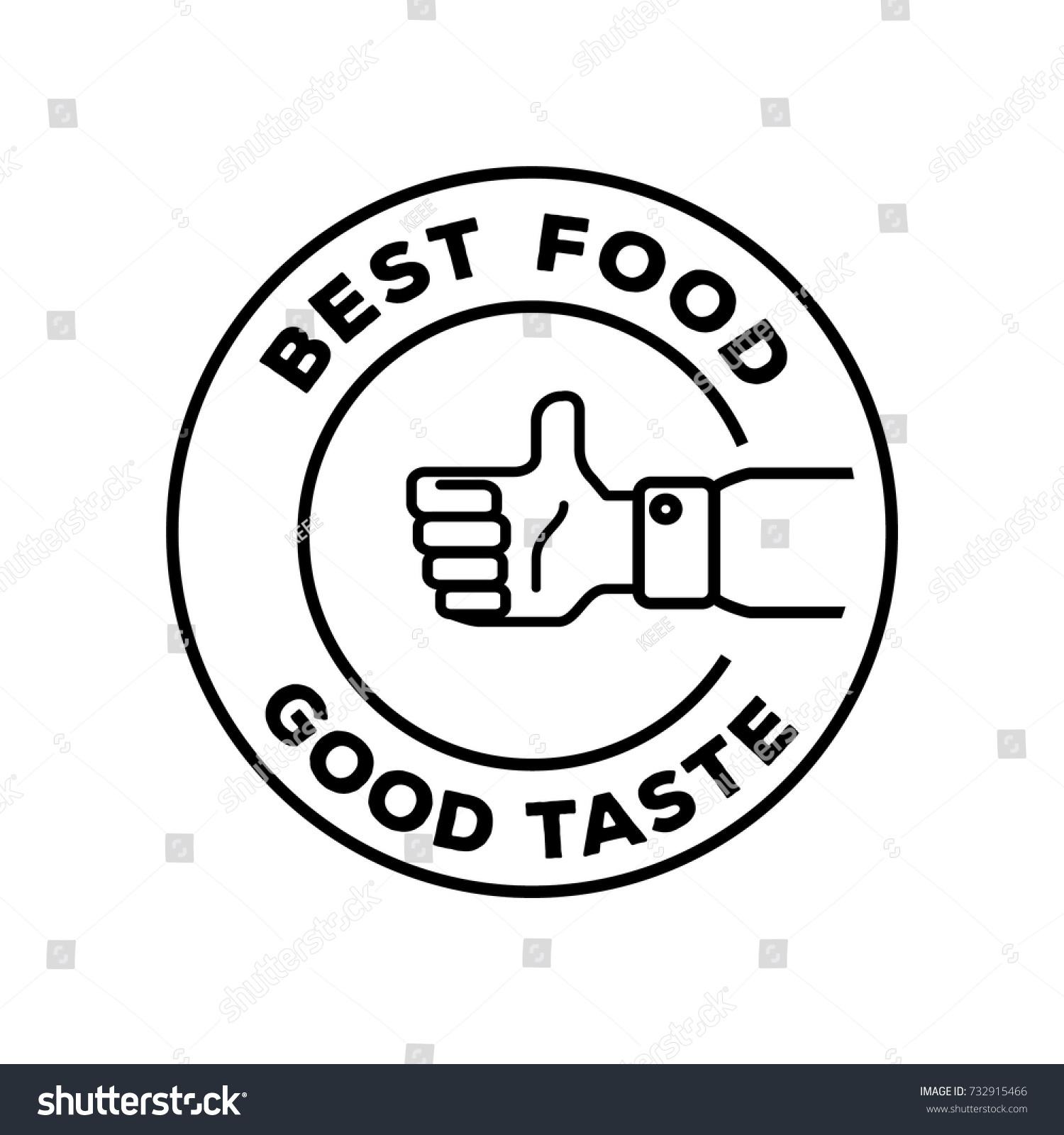 best food good taste logo hand stock vector 732915466 shutterstock