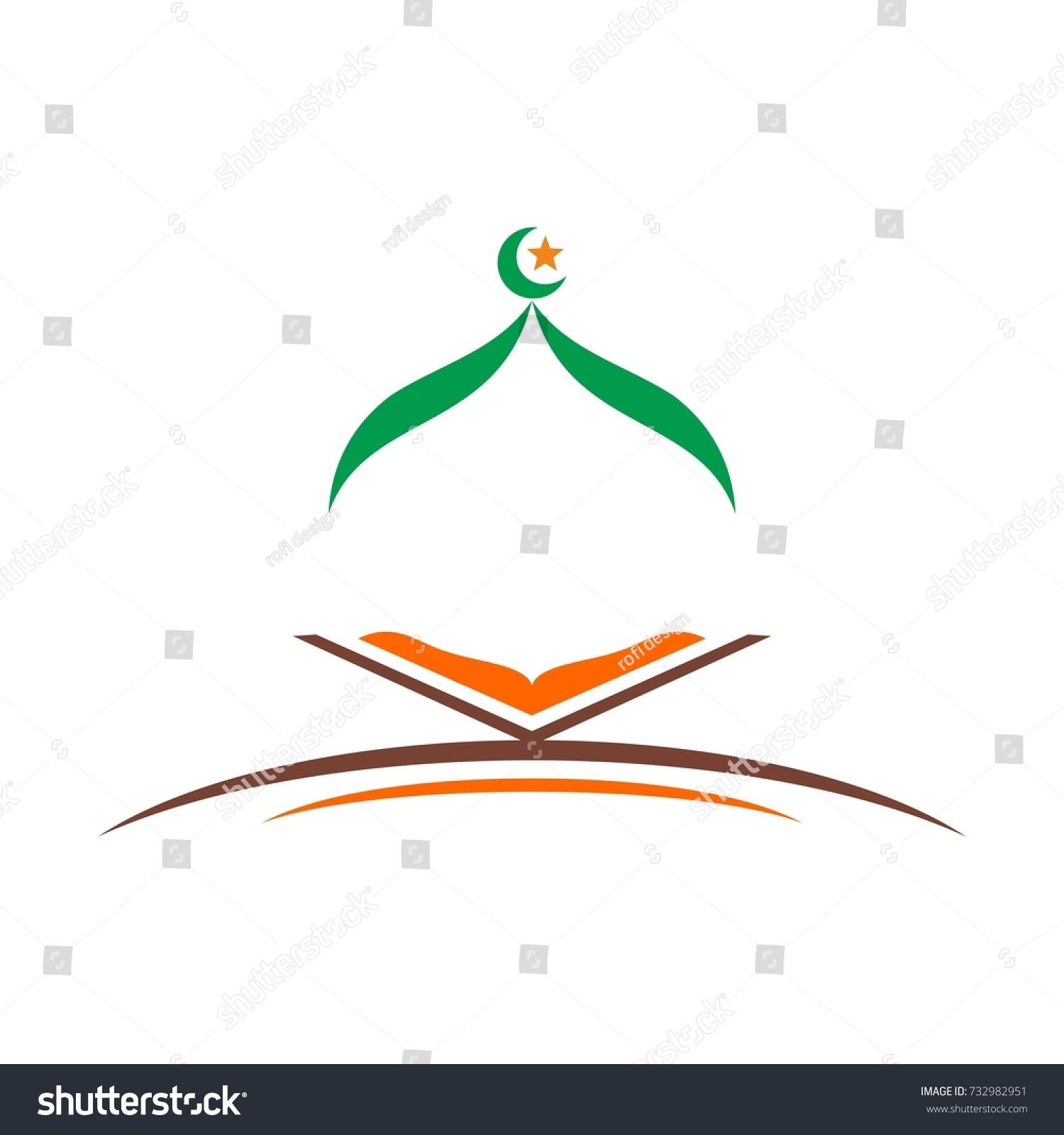 islamic logo book symbol stock vector 2018 732982951 shutterstock rh shutterstock com islamic logo images islamic logo creator