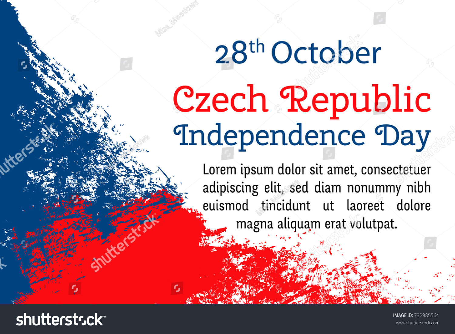 Vector Illustration Czech Republic Independence Day Stock Vector