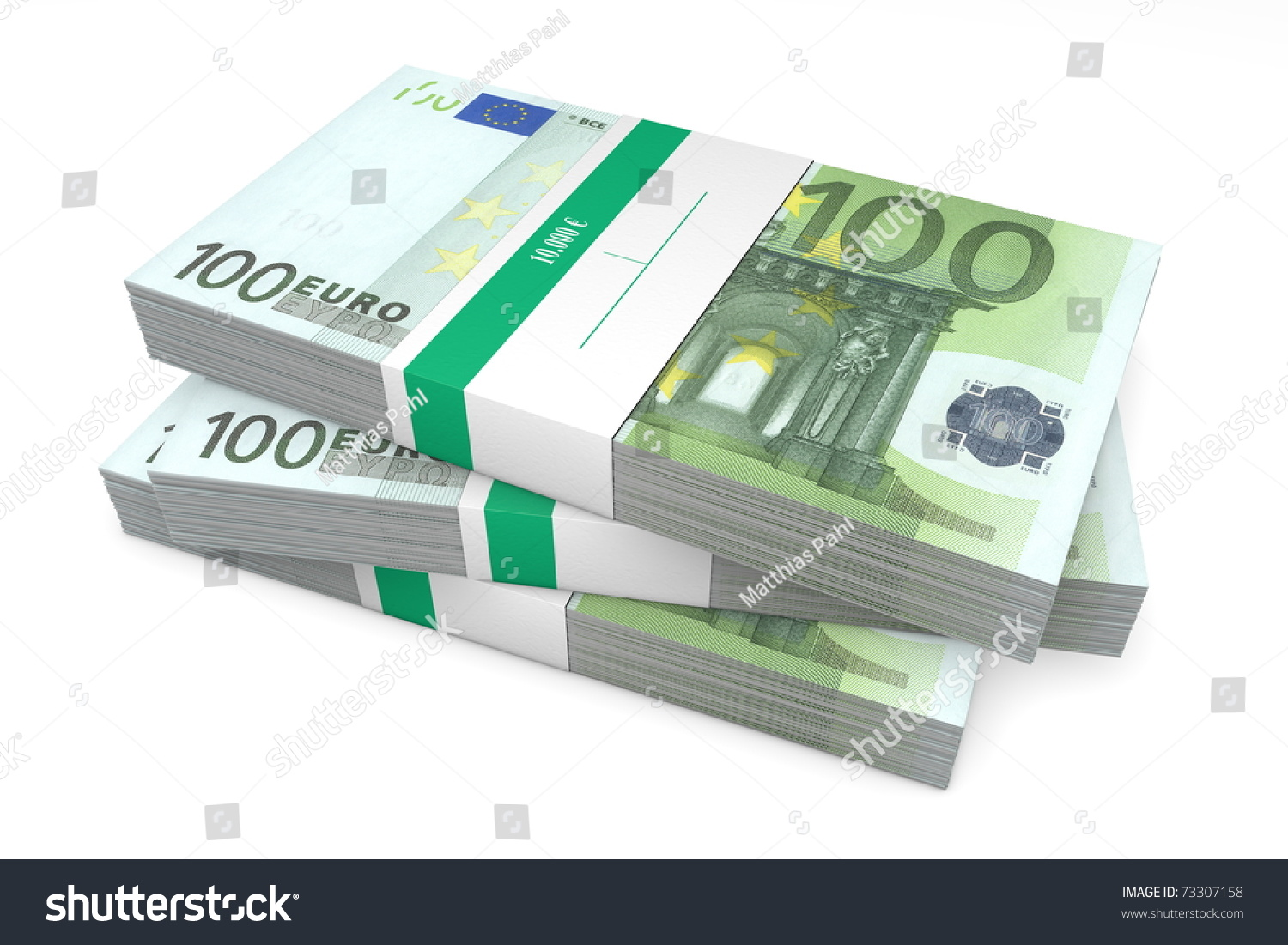 Three Packet 200 Euro Notes Bank stockillustration 73307158
