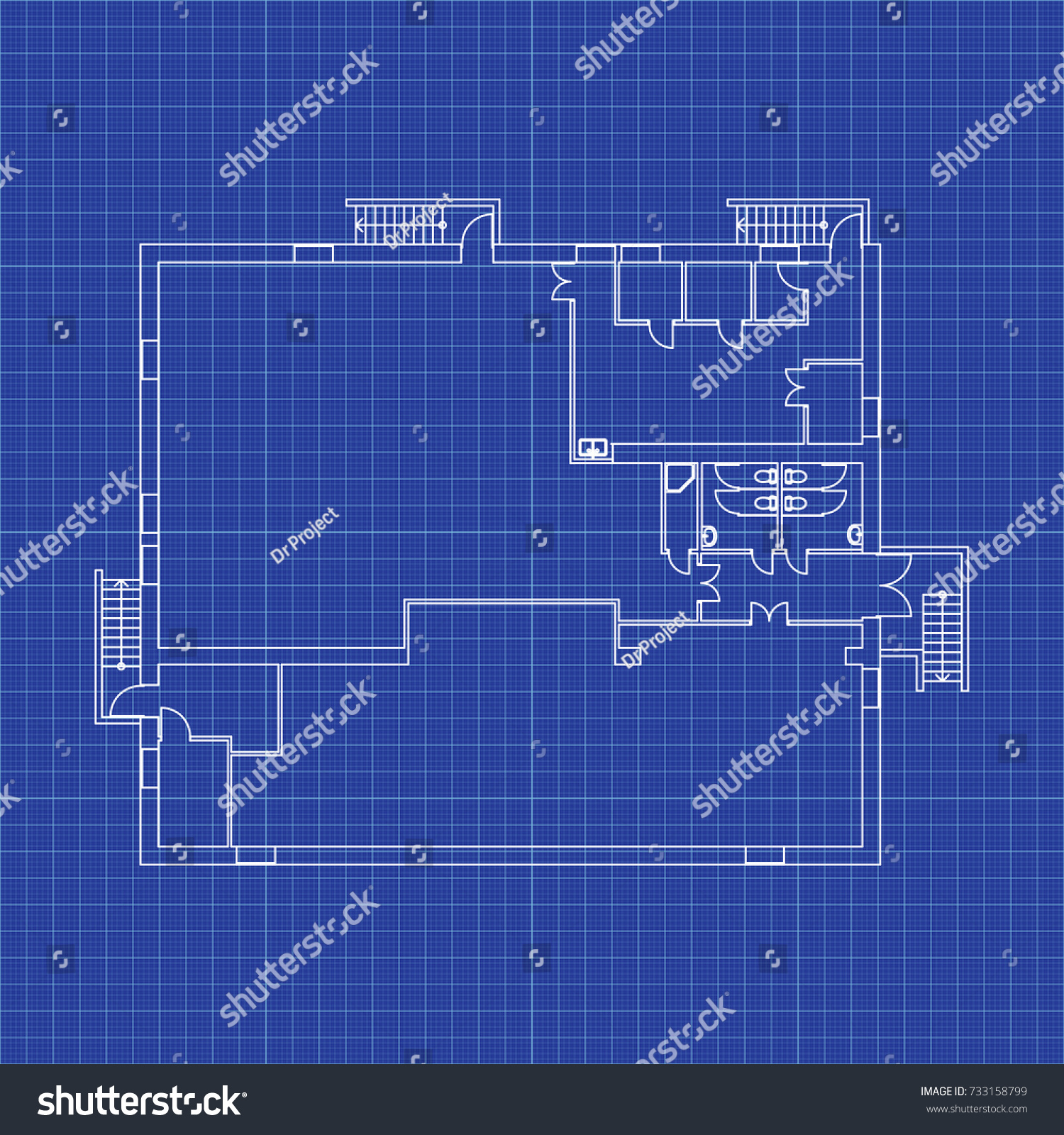 Cafe floor plan without furniture your vectores en stock 733158799 cafe floor plan without furniture for your design vector blueprint modern architectural background malvernweather Gallery