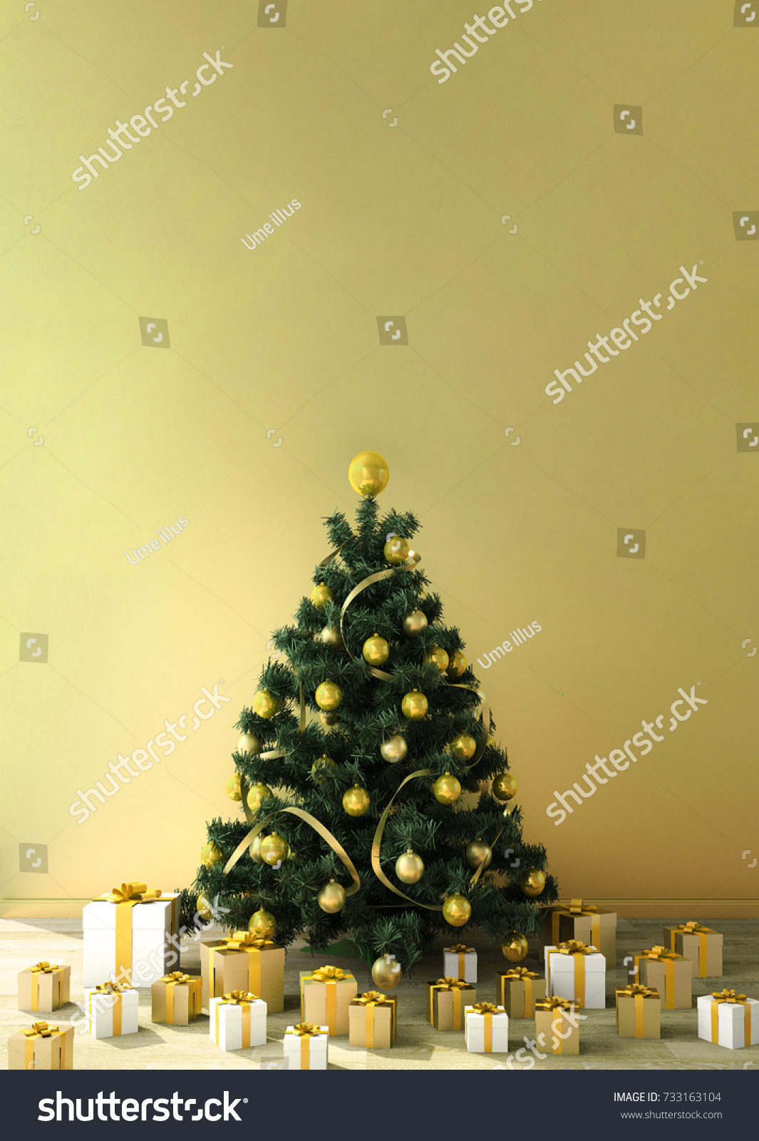Work Space Copy Space Christmas Theme Stock Illustration 733163104 ...