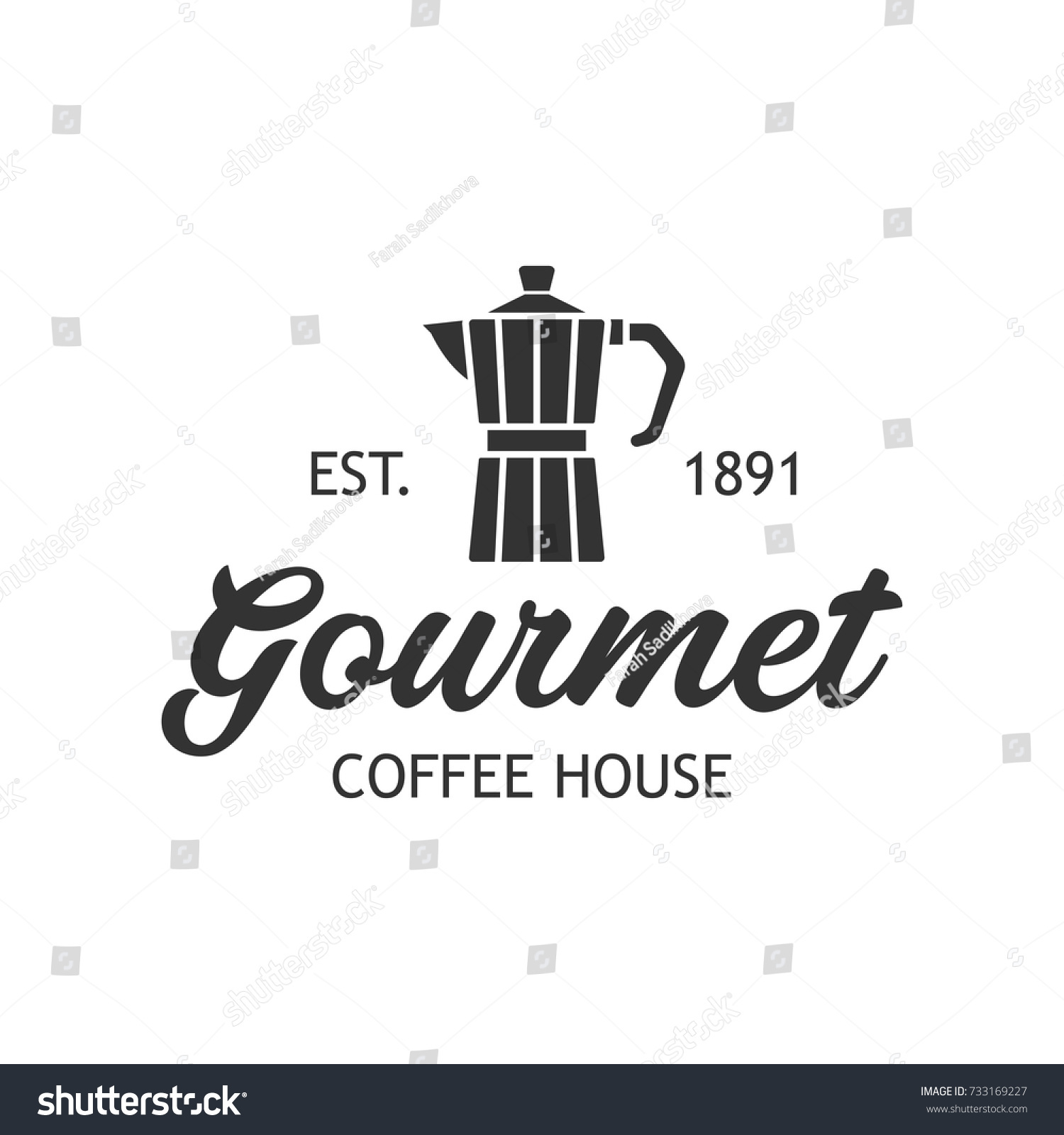 coffee shop cafe logo template layout stock vector royalty free