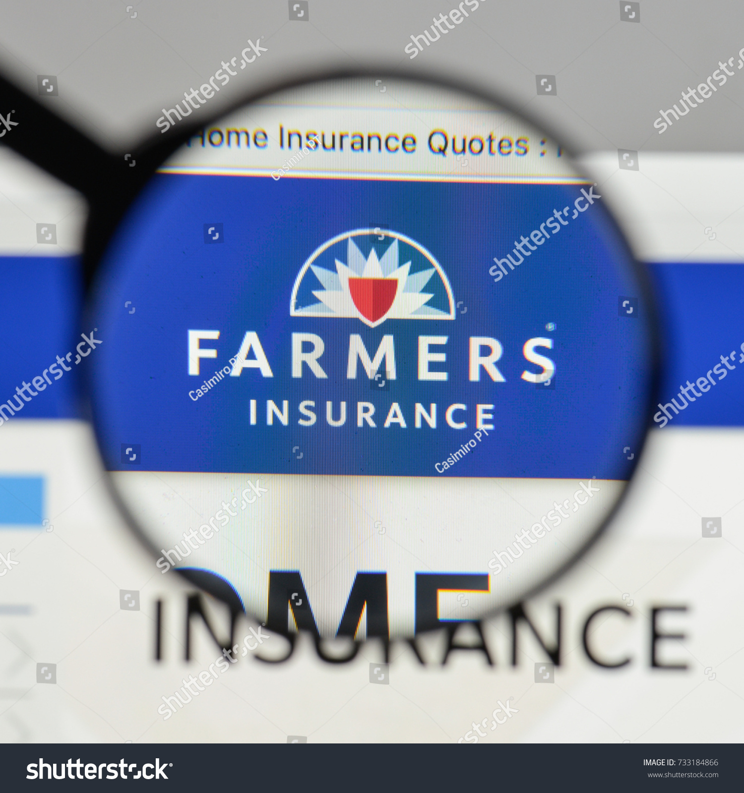 Farmers Insurance Quote Milan Italy August 10 2017 Farmers Stock Photo 733184866