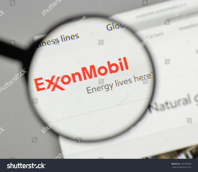 Milan italy august 10 2017 exxon stock photo 733189798 shutterstock milan italy august 10 2017 exxon logo on the website homepage buycottarizona Gallery