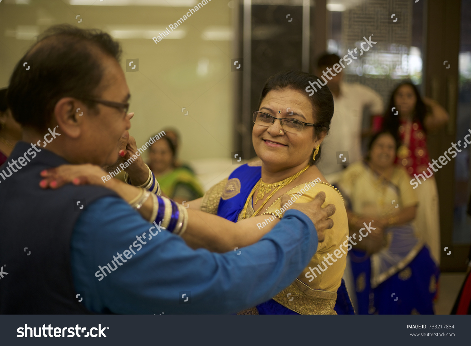 Mature Couple Seen Dancing Joy Wedding Stock Photo Edit Now