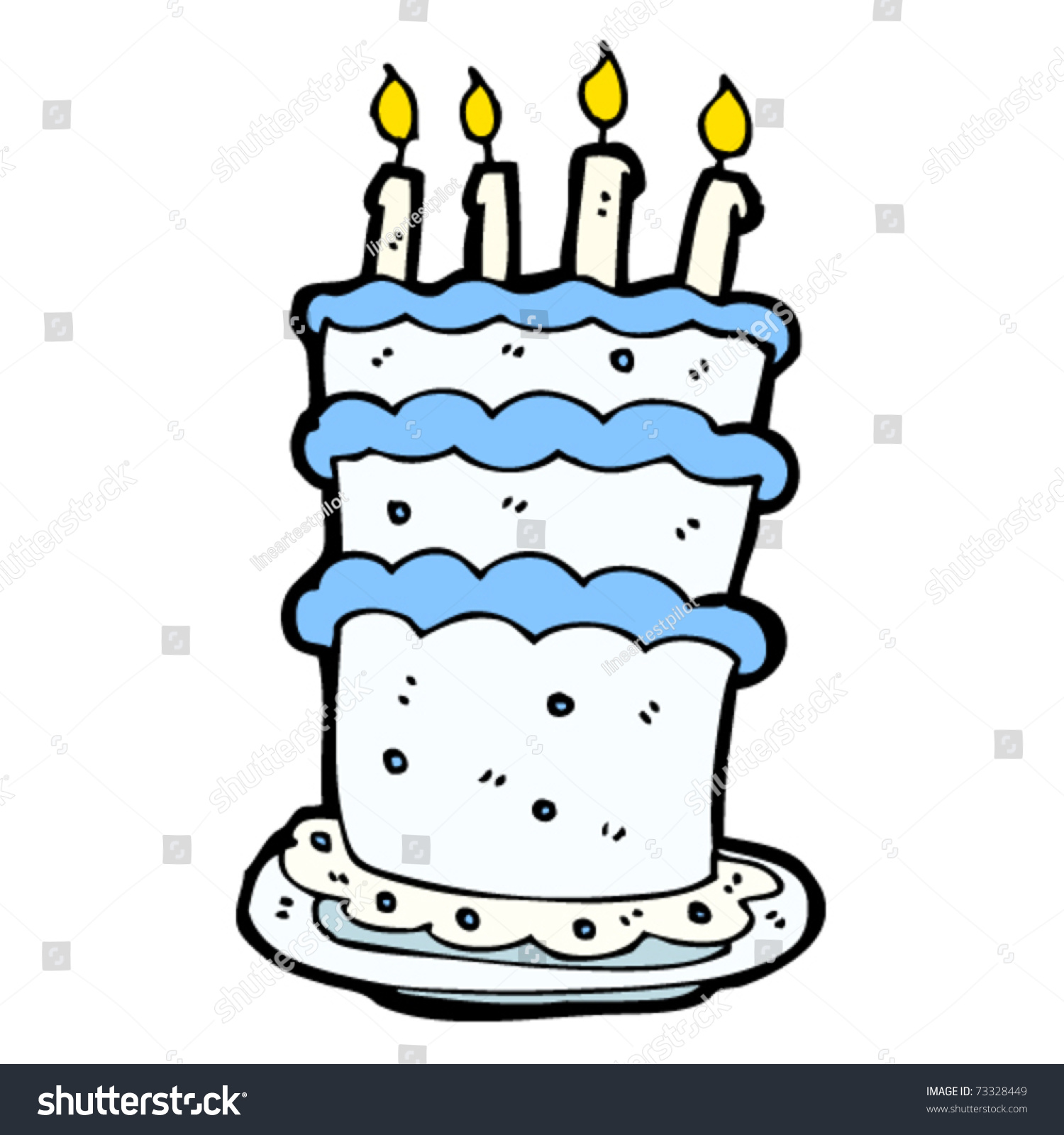 Tall Boys Birthday Cake Stock Vector 73328449 - Shutterstock
