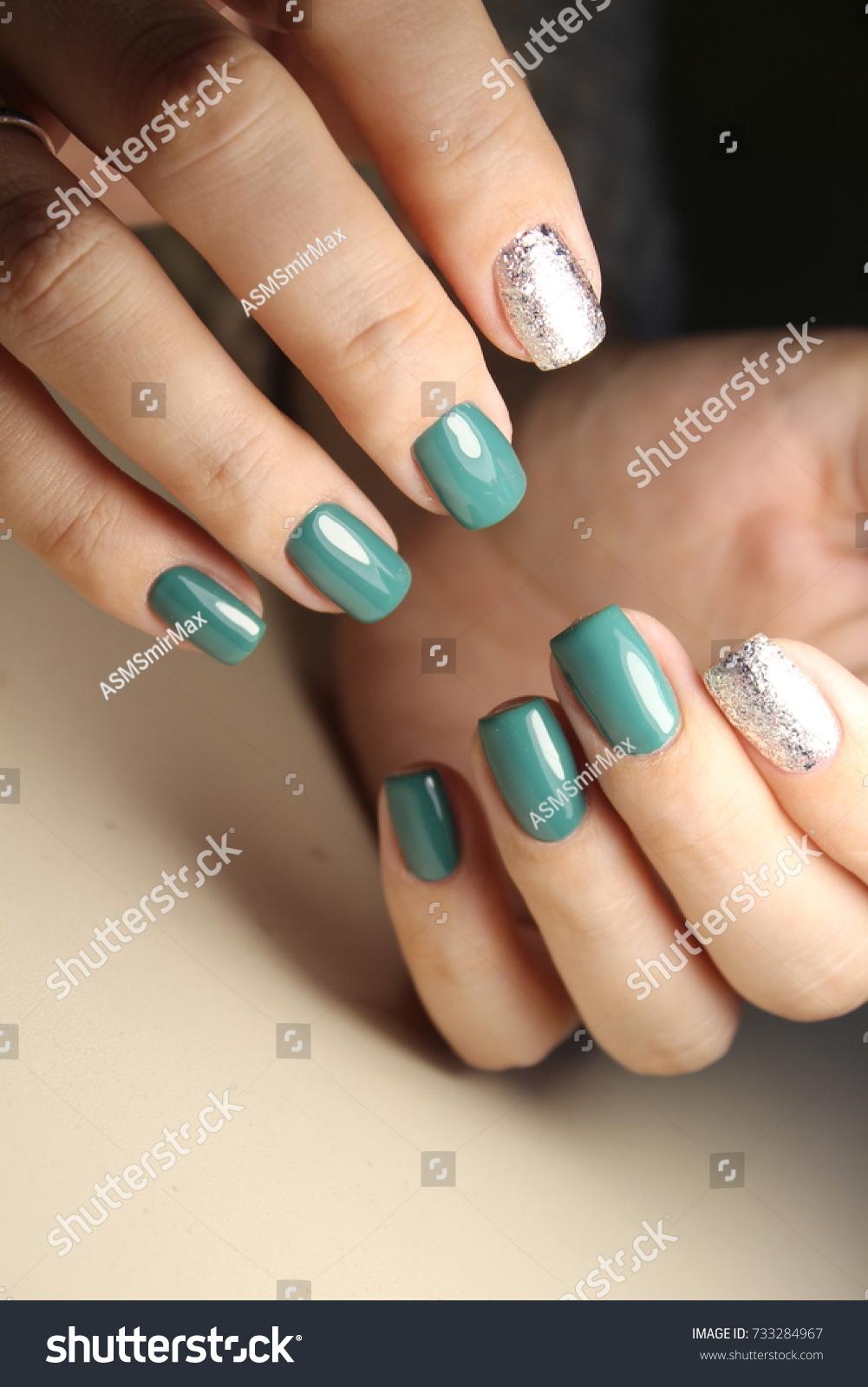 Fashion Nails Design Manicure Best 2017 Stock Photo 733284967 ...
