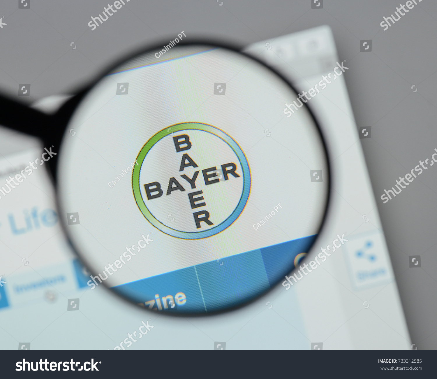 Milan Italy August 10 2017 Bayer Stock Photo Edit Now 733312585