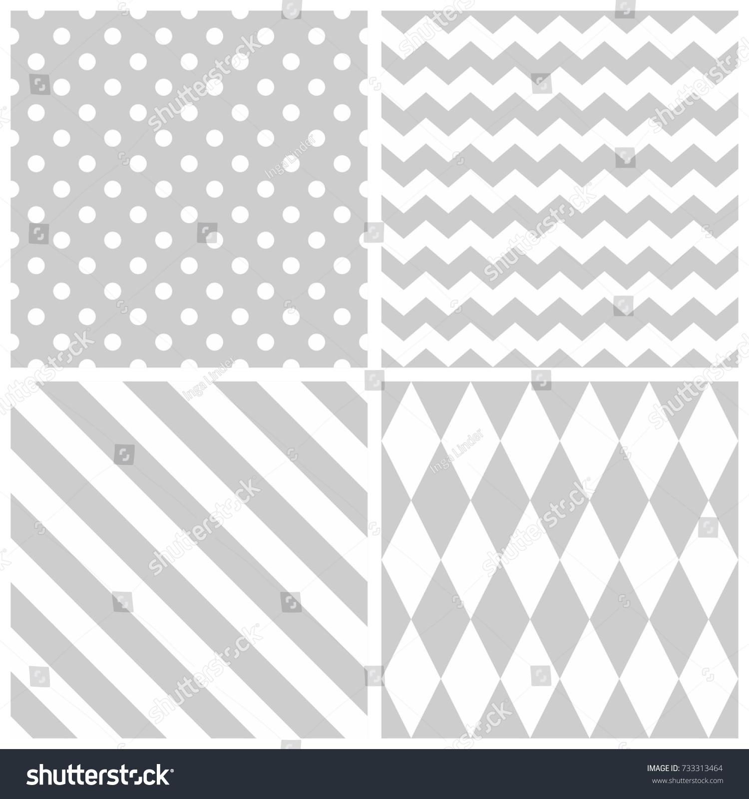 Tile Grey White Vector Pattern Chevron Stock Vector