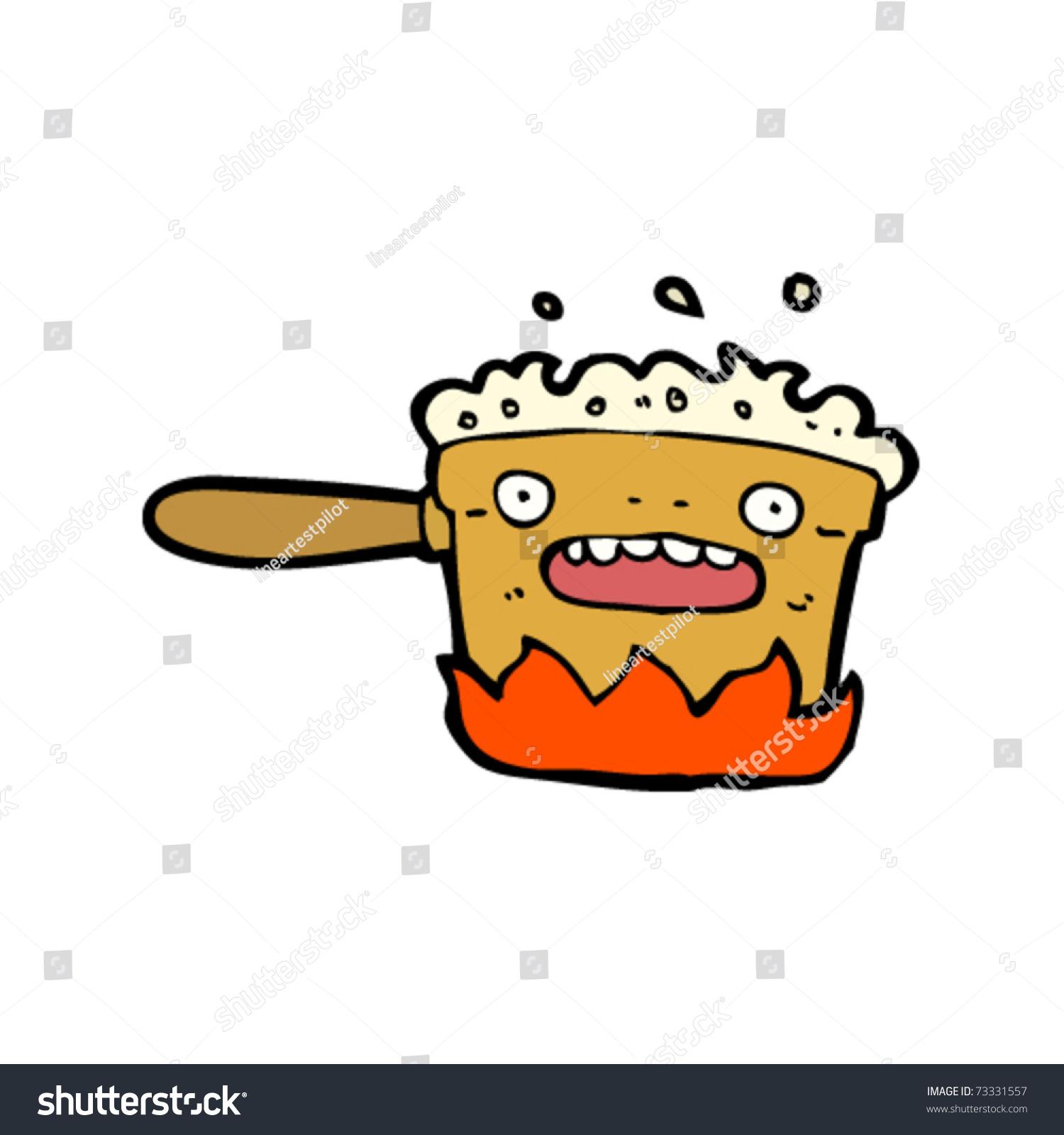Kitchen Hob Cartoon ~ Cooking pan cartoon stock vector illustration