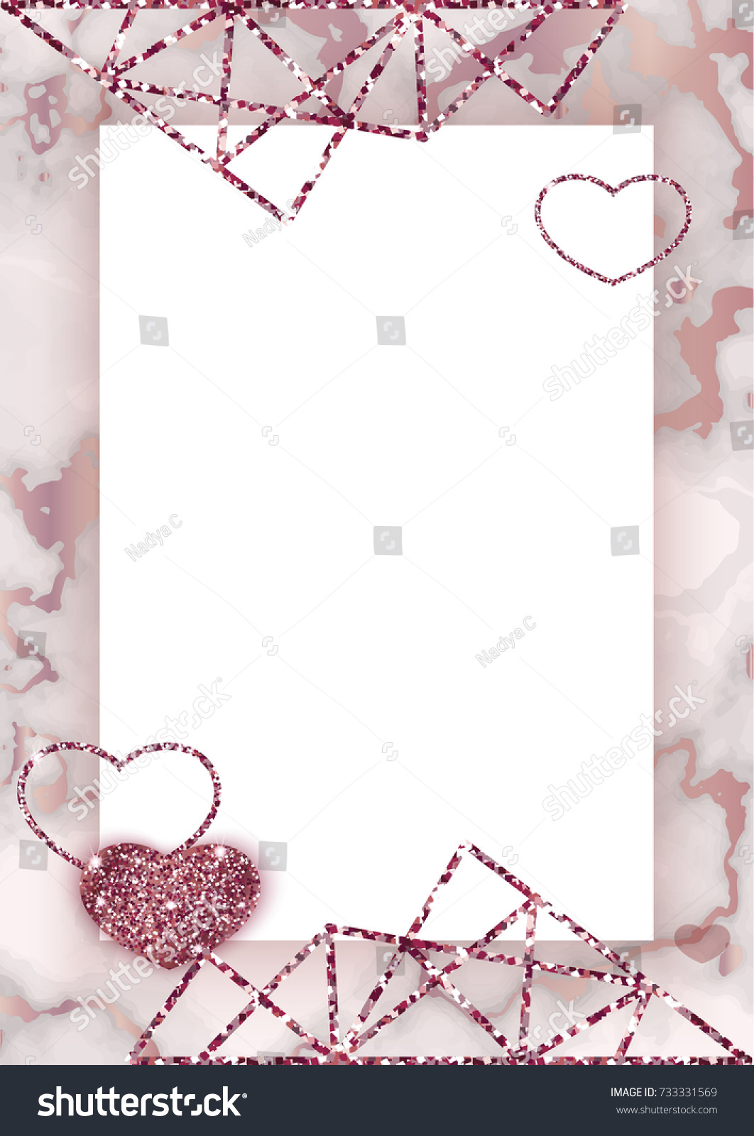 Top Wallpaper Marble Heart - stock-vector-geometric-wedding-invitation-marble-texture-background-in-trendy-minimalistic-style-heart-733331569  Pictures_571110.jpg