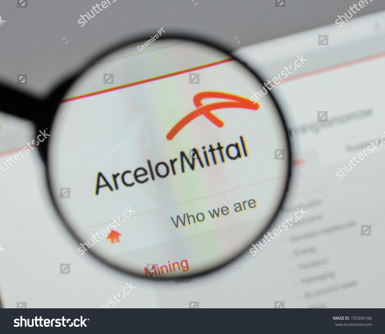 Milan italy august 10 2017 arcelor stock photo 733340188 milan italy august 10 2017 arcelor mittal logo on the website homepage buycottarizona