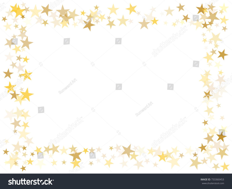 Gold Flying Stars Confetti Magic Christmas Stock Vector 733360453 ...