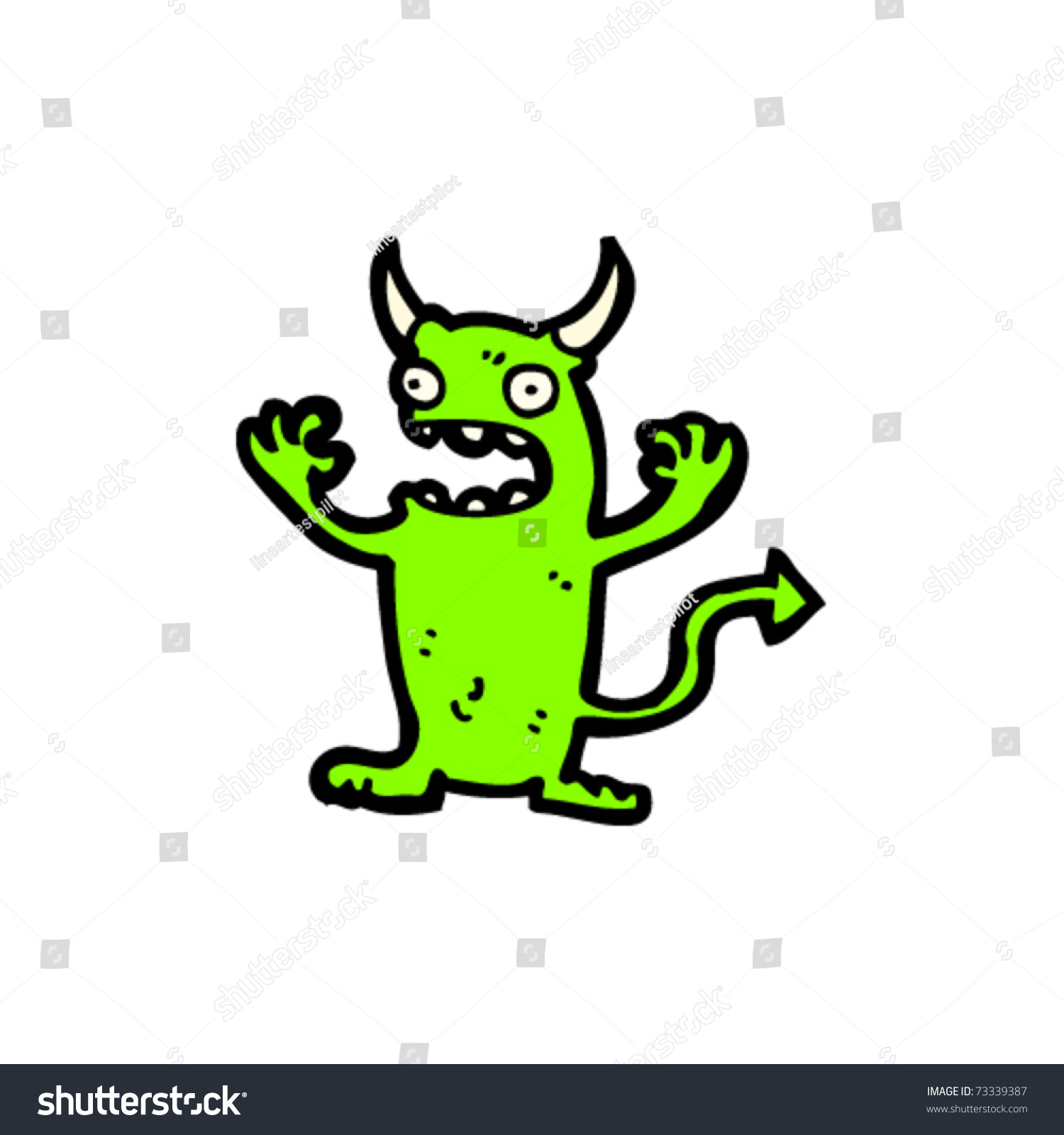 little green devil cartoon stock vector illustration. Black Bedroom Furniture Sets. Home Design Ideas