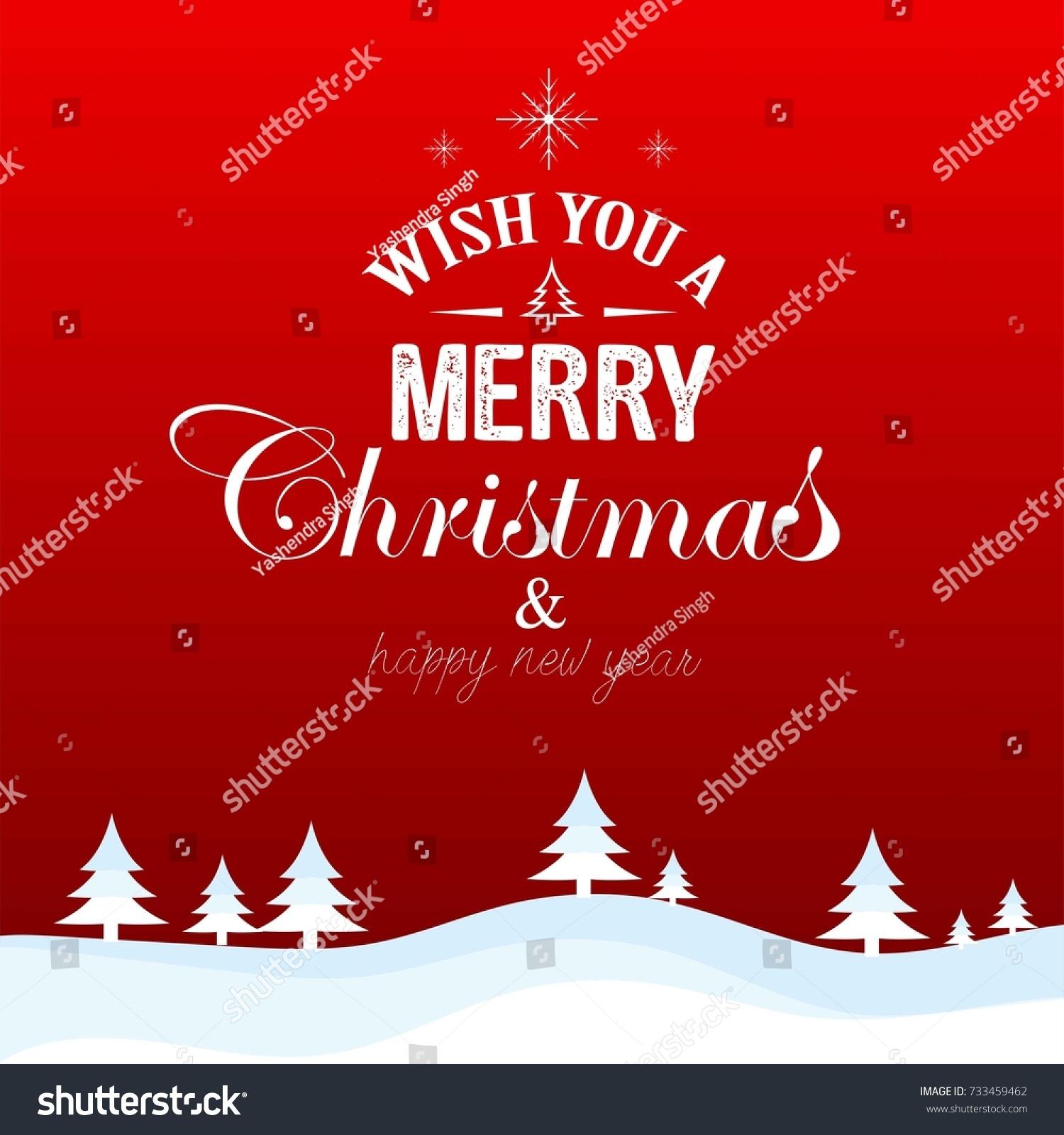 Creative Vector Illustration Merry Christmas Happy Stock Vector 733459462    Shutterstock