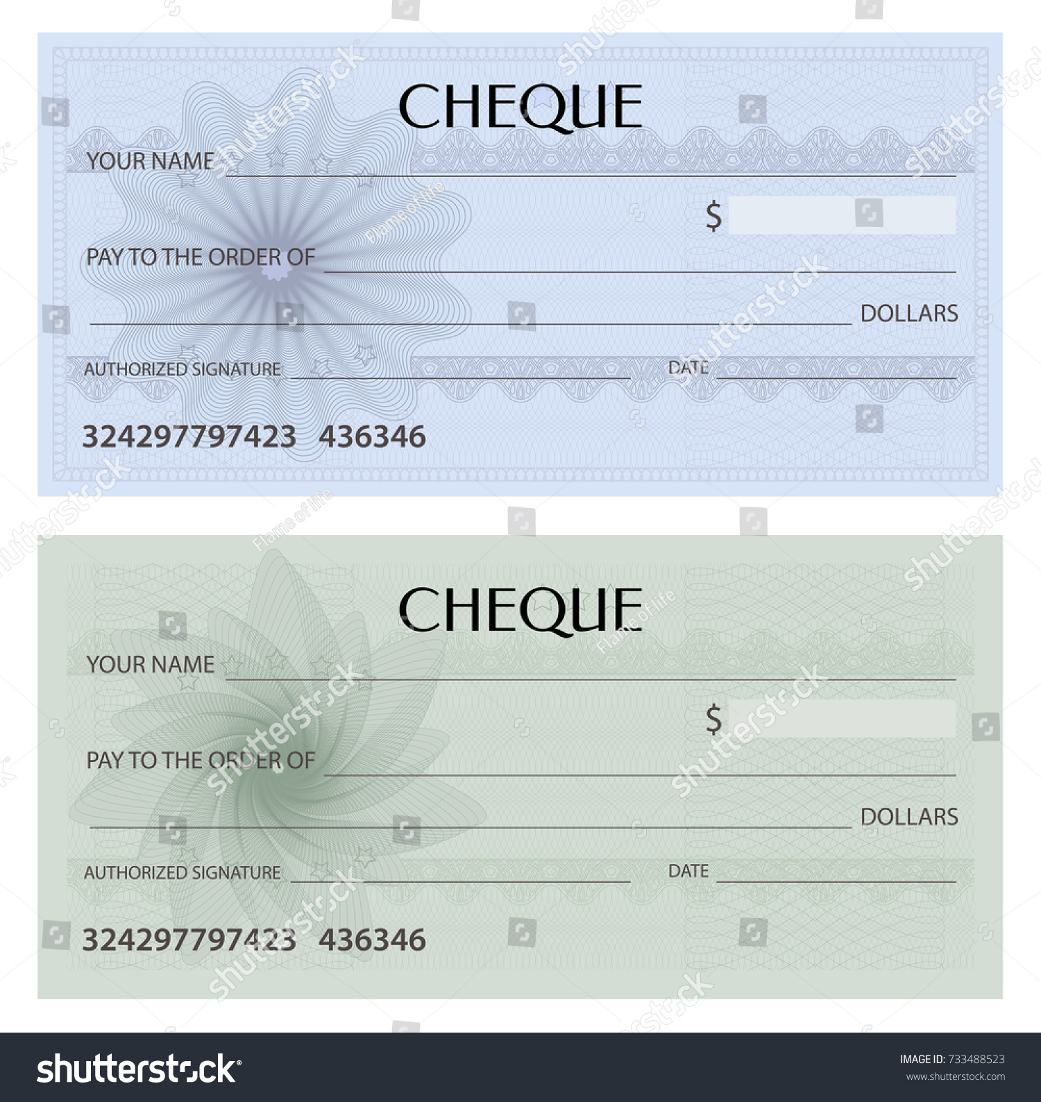 Check cheque chequebook template guilloche pattern stock vector check cheque chequebook template guilloche pattern with watermark spirograph background pronofoot35fo Gallery