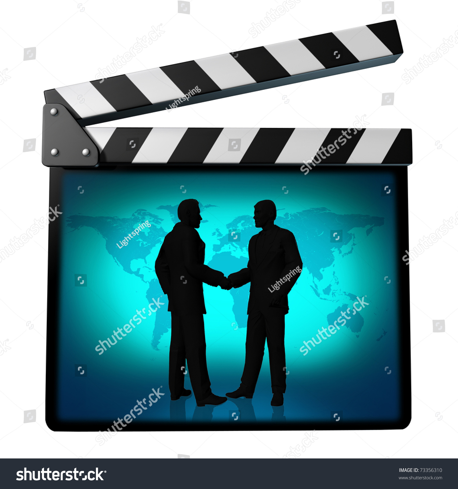 Movie Deal Symbol Represented By Directors Stock Illustration