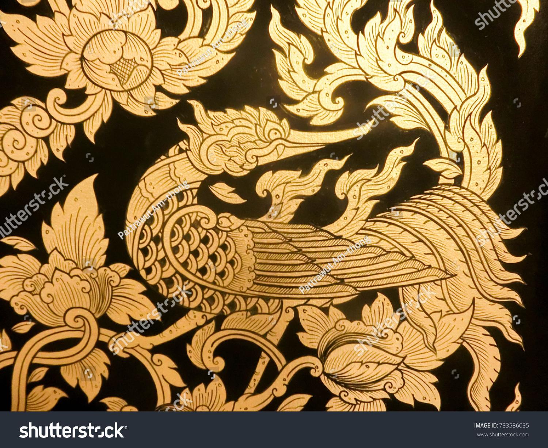 Set Thai Art Element Ethnic Art Stock Photo (Royalty Free) 733586035 ...