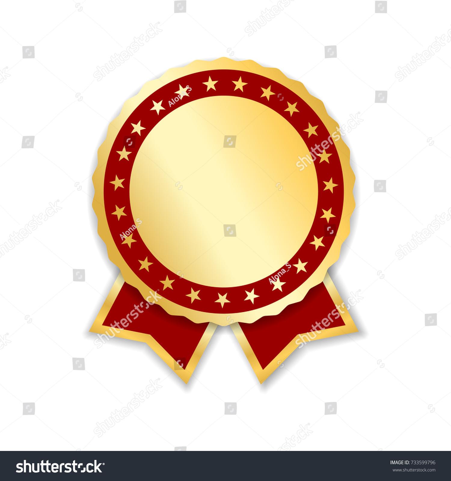 Award ribbon isolated gold red design stock vector 733599796 award ribbon isolated gold red design medal label badge certificate symbol buycottarizona