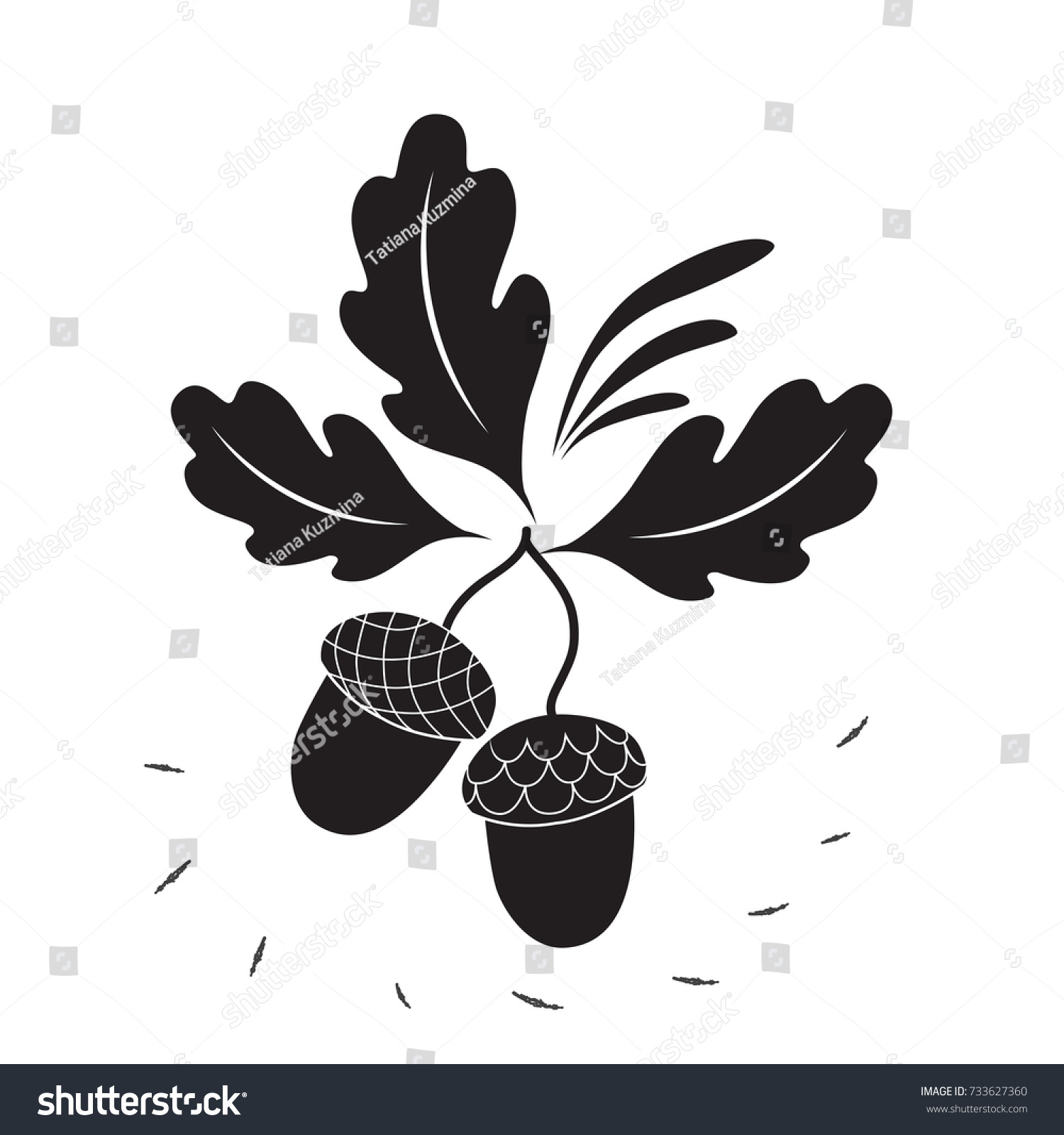 Acorns icon black style isolated on stock vector 733627360 acorns icon in black style isolated on white background canadian thanksgiving day symbol stock vector biocorpaavc Choice Image