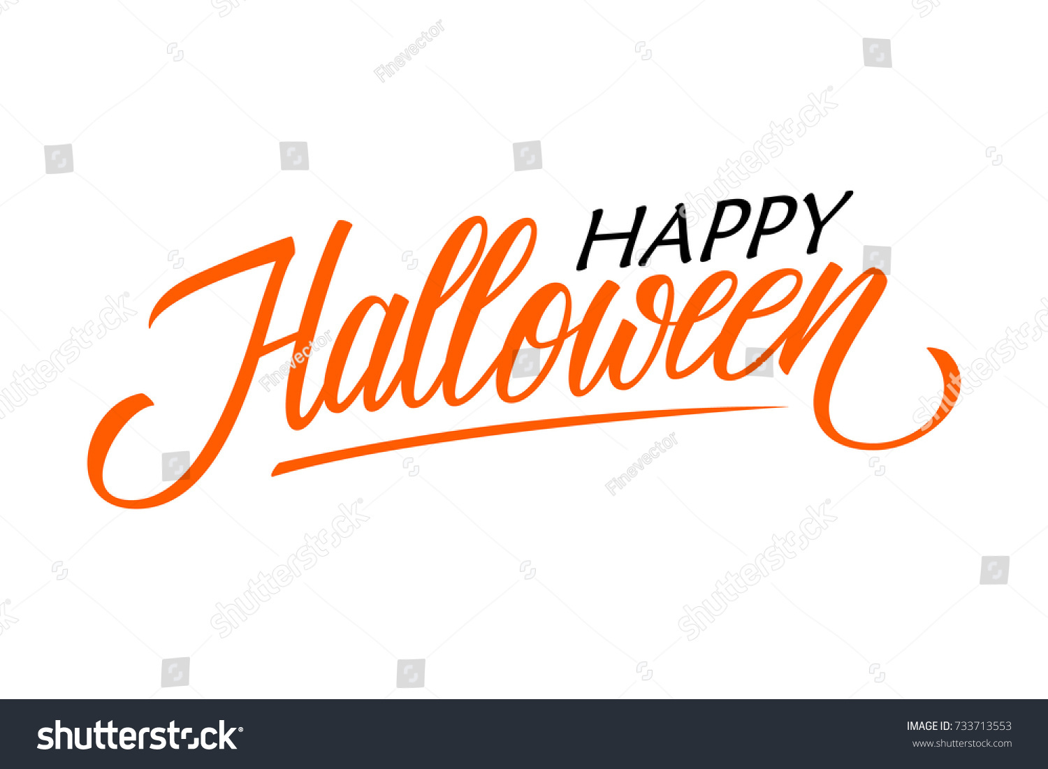 Happy halloween card template hand drawn stock vector 733713553 happy halloween card template hand drawn lettering creative text design for holiday greetings kristyandbryce Images