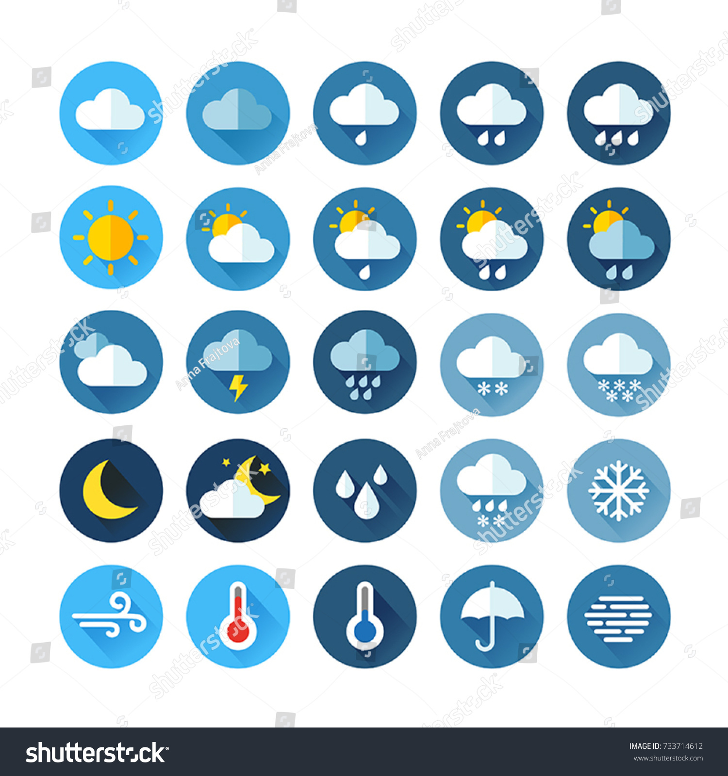 Weather Icons For Print, Web or Mobile App