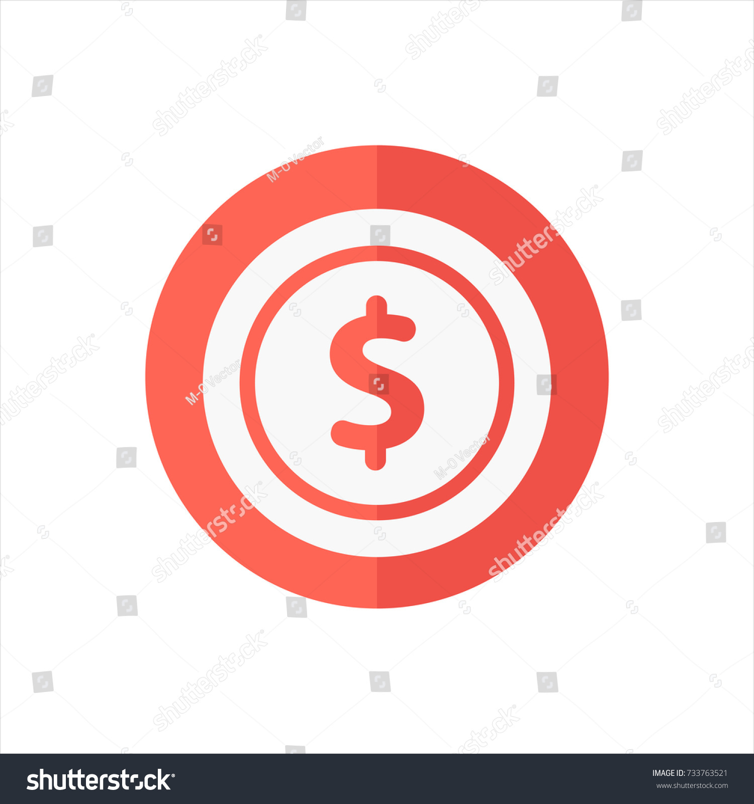 Usd Icon Trendy Flat Style Isolated Stock Vector Royalty Free
