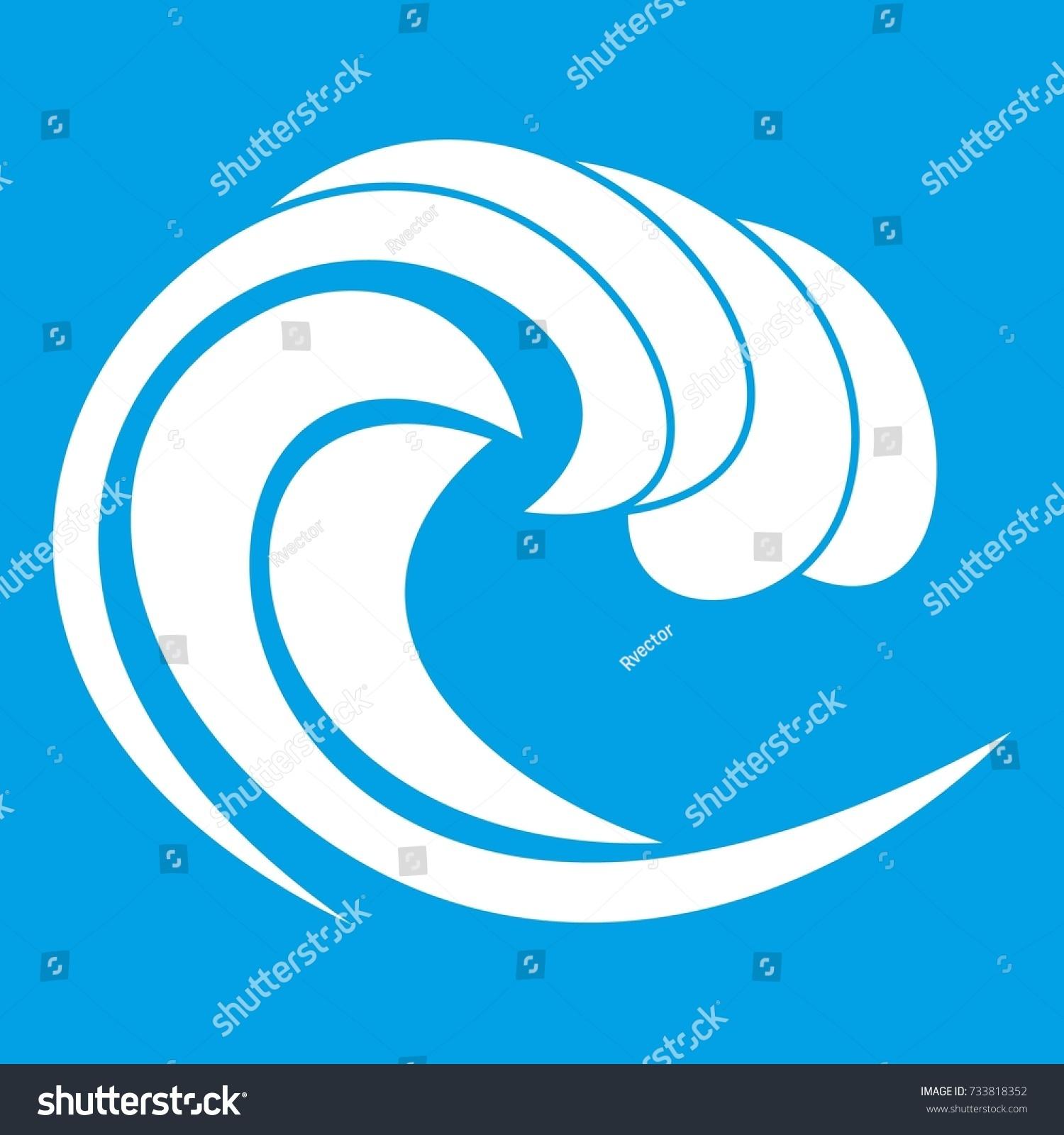 Wave sea tide icon white isolated stock illustration 733818352 wave of sea tide icon white isolated on blue background illustration biocorpaavc