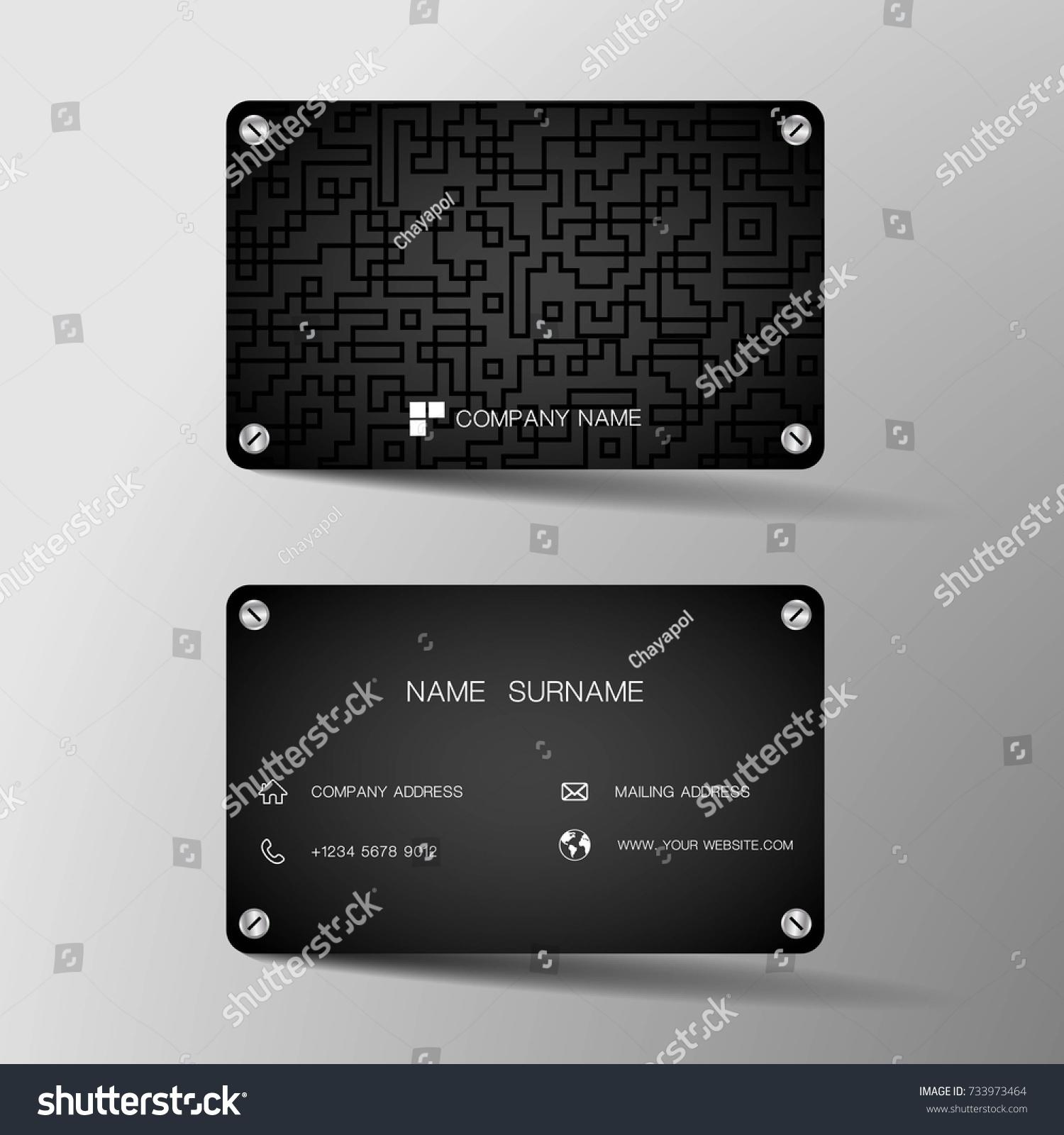 Modern Business Card Template Design Inspiration Stock Vector ...