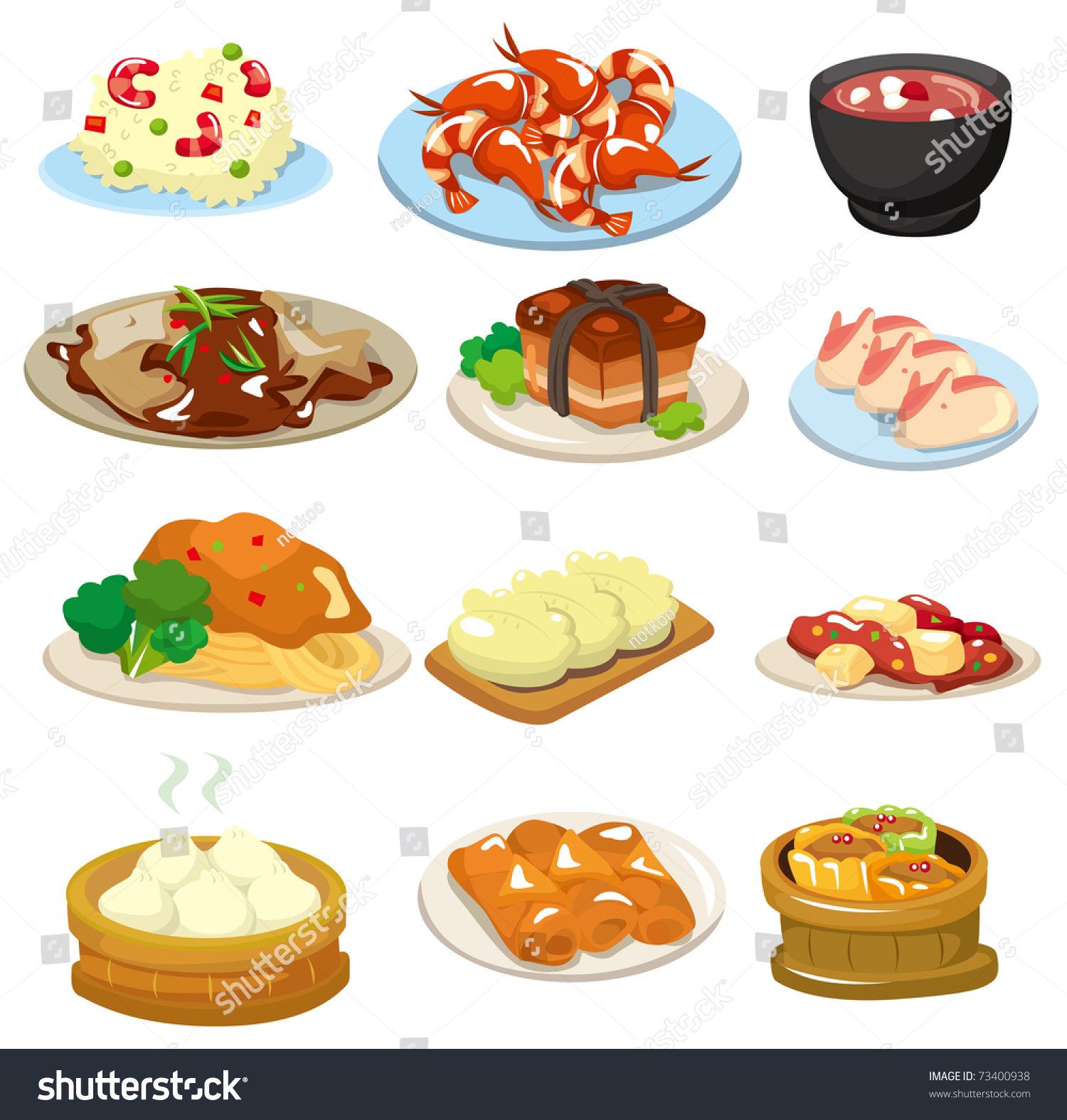 Cartoon Chinese Food Icon Stock Vector 73400938 - Shutterstock