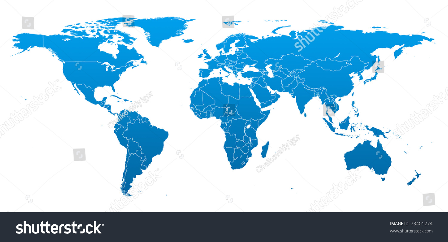 Hi detail real world map territorial stock illustration 73401274 hi detail real world map with territorial countries fragmentation gumiabroncs Image collections