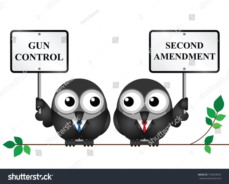 gun control verses usa second amendment stock vector royalty free