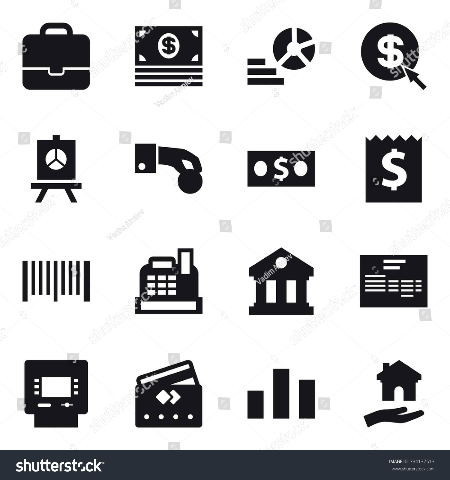 16 vector icon set portfolio money stock vector 734137513 16 vector icon set portfolio money diagram dollar arrow presentation ccuart Choice Image