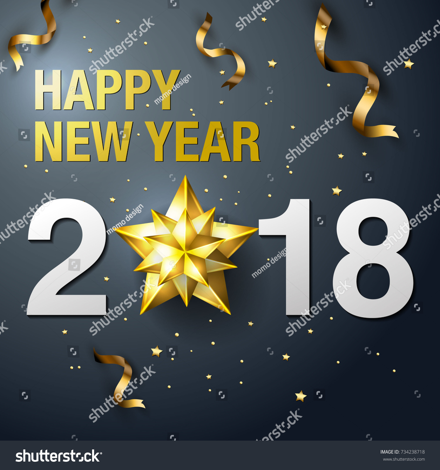 happy new year 2018 design template layout vector