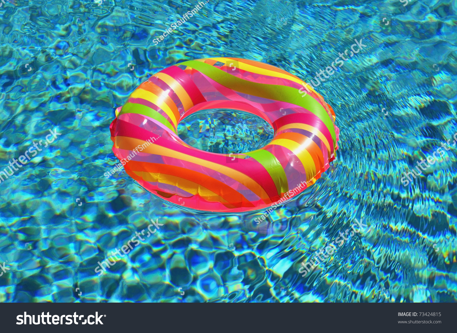 Pool Ring Float In Swimming Pool Stock Photo 73424815 Shutterstock