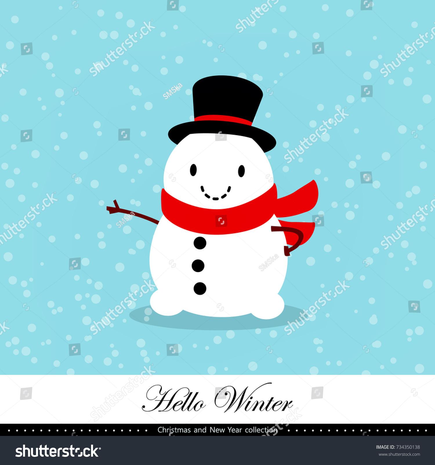 Playful snowman winter christmas new year stock vector