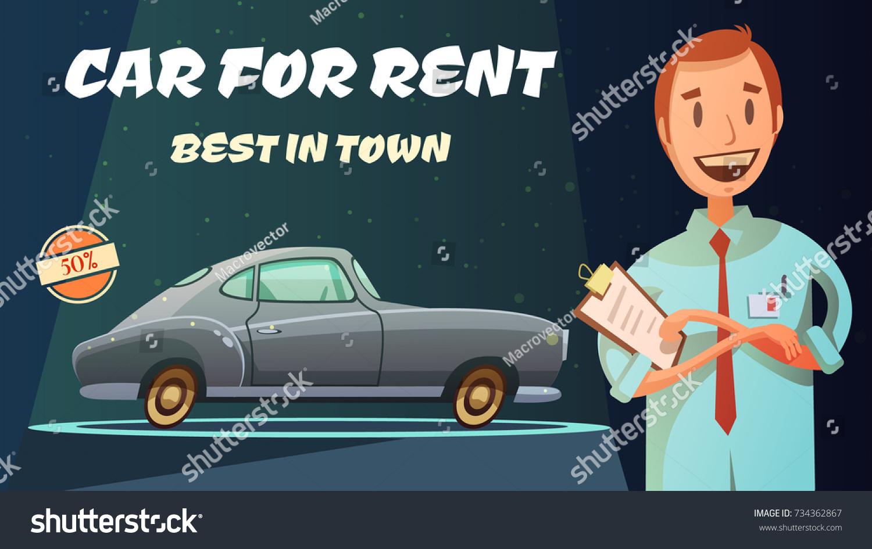 Best Rental Car Prices Excellent Service Stock Illustration ...