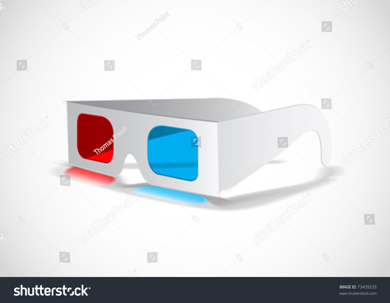 3d Glasses Stock Vector Illustration 73439233 : Shutterstock