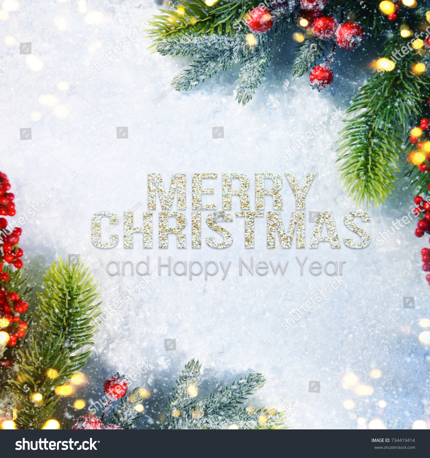 Holiday Background Greeting Card Christmas New Stock Photo Royalty