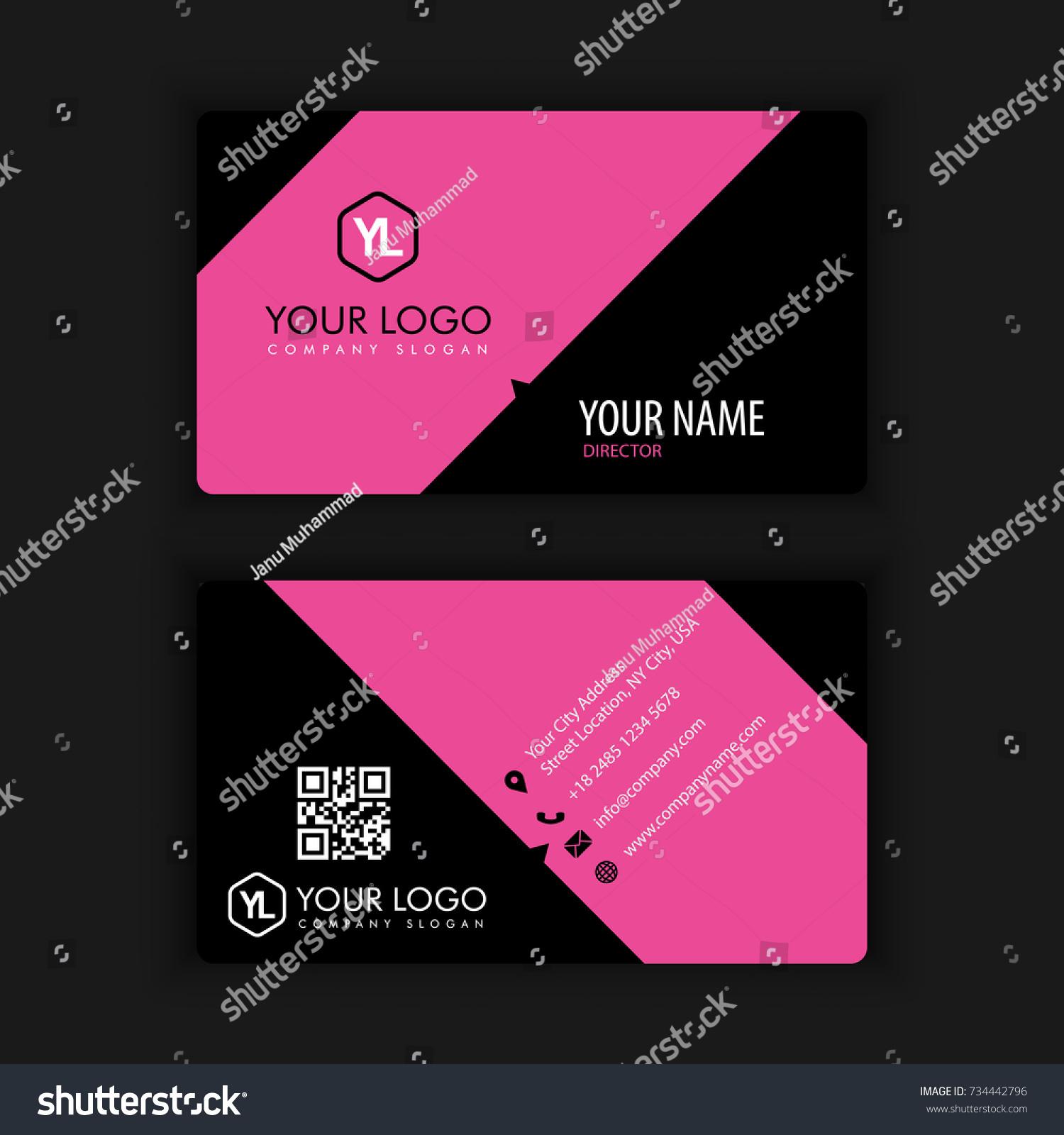 Modern Creative Clean Business Card Template Stock Vector ...
