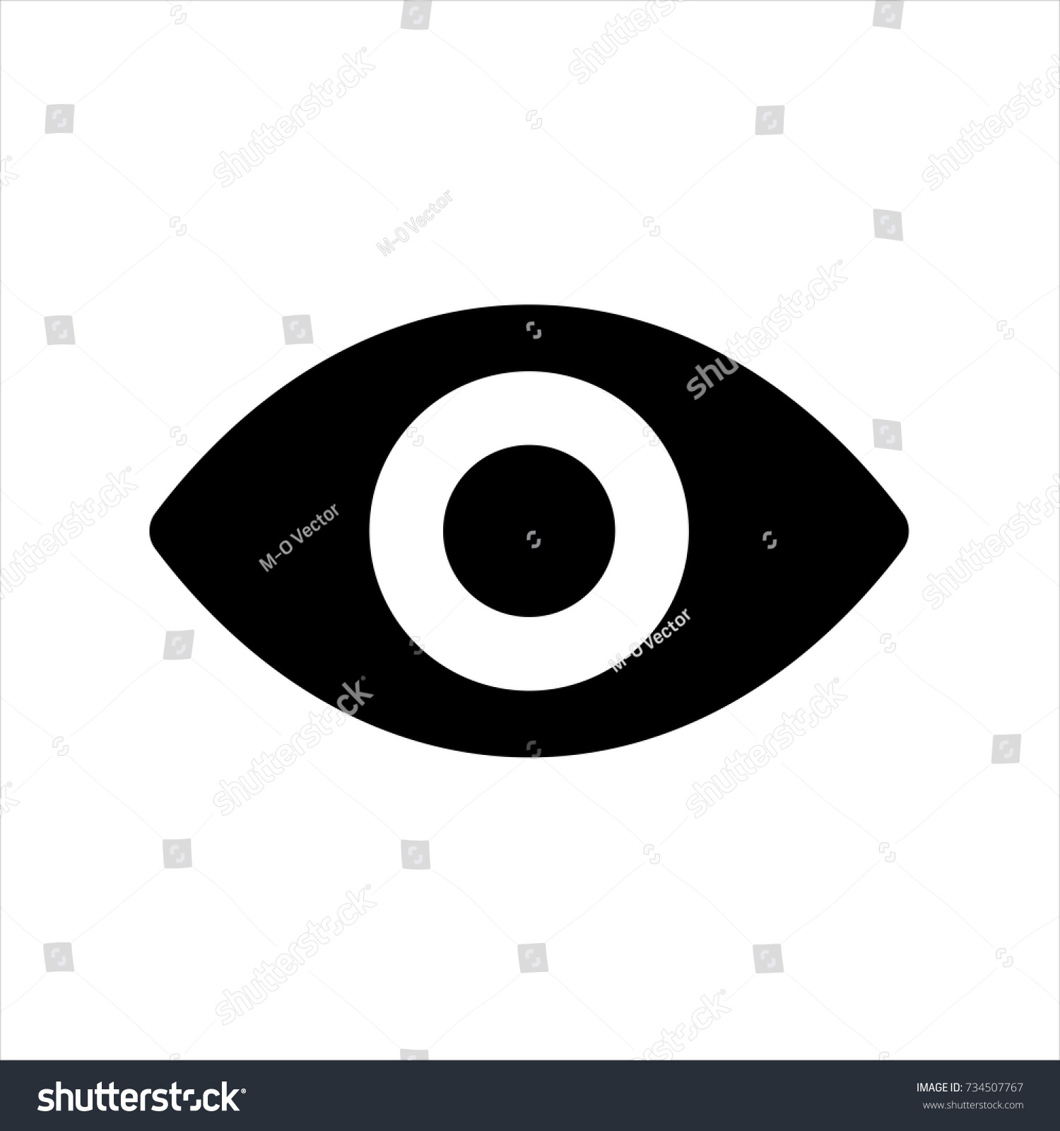Eye Icon Trendy Flat Style Isolated Stock Vector Royalty Free