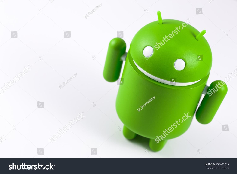 Android Symbol Figure On White Background Stock Photo Image