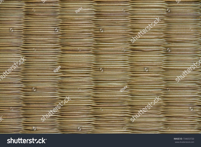 Original Traditional Tatami Mat Texture Called Stock Photo