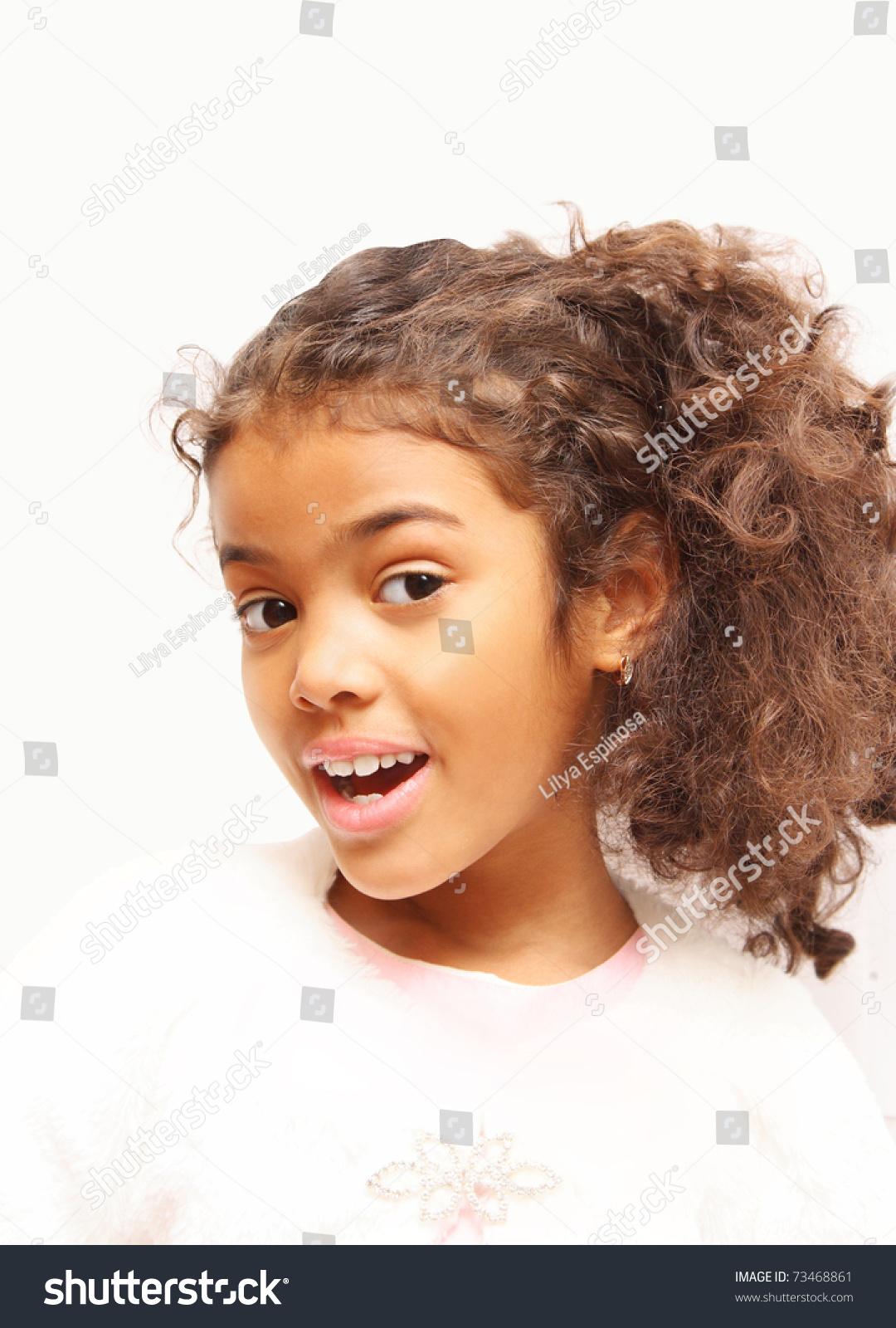 Beautiful Mixed Race Girl Stock Photo 73468861 Shutterstock