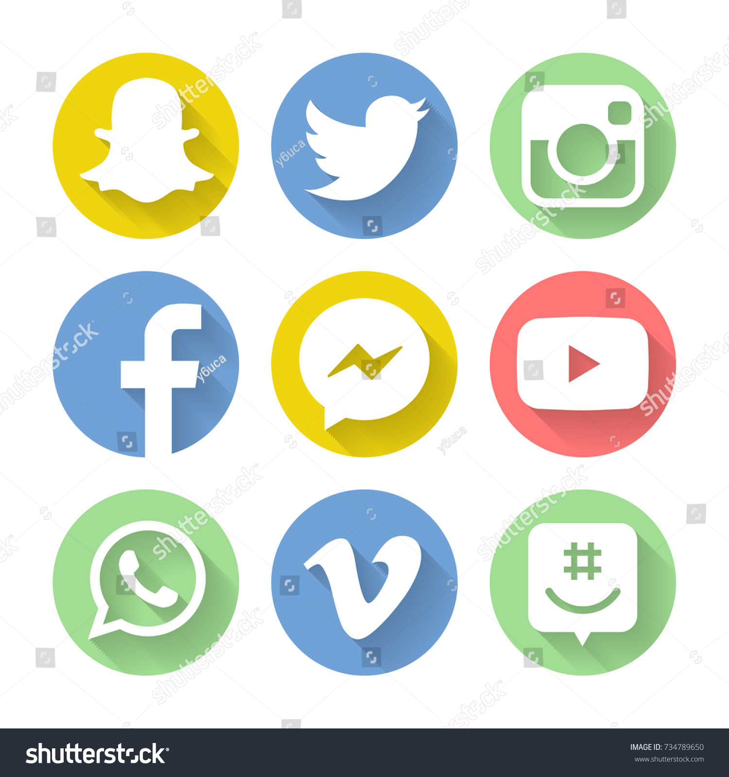 Collection popular social media icons facebook stock photo collection of popular social media icons facebook twitter instagram youtube vine buycottarizona